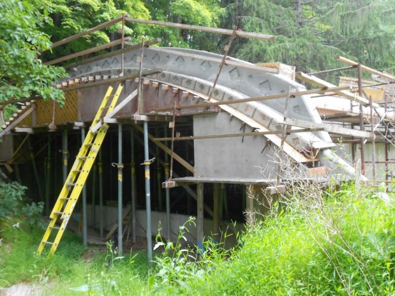 North side spandrels stripped.