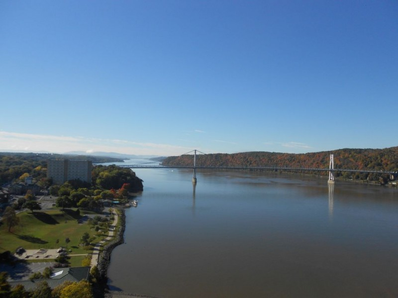 View of the Mid Hudson Bridge looking south.