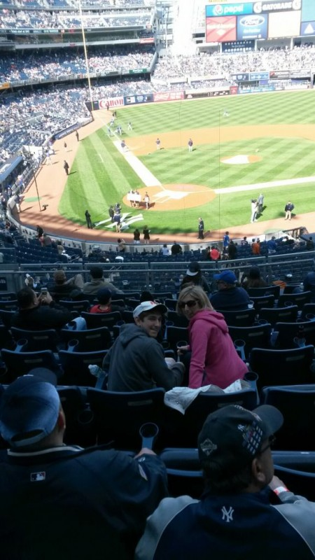 The Editor and Terence at Yankee stadium.