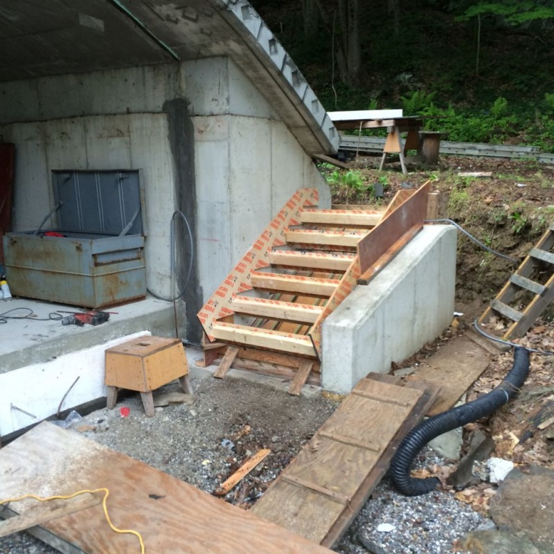 Stairs installed ready for concrete.
