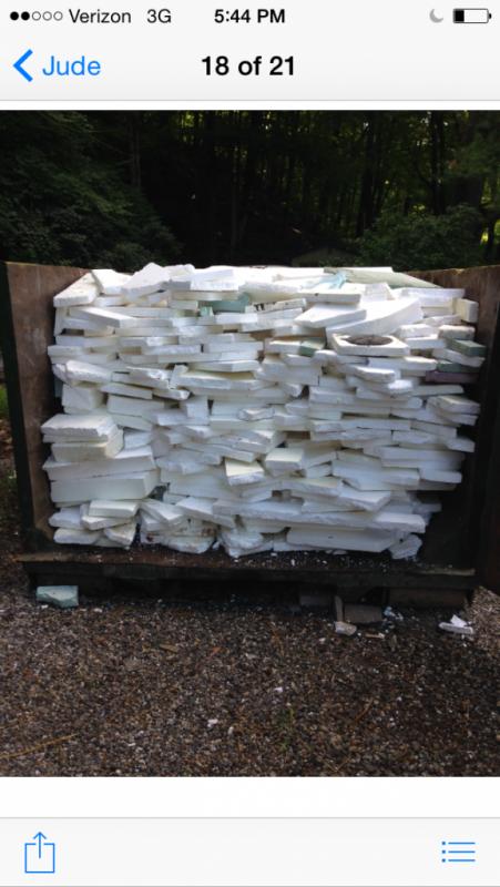 Styrofoam scraps