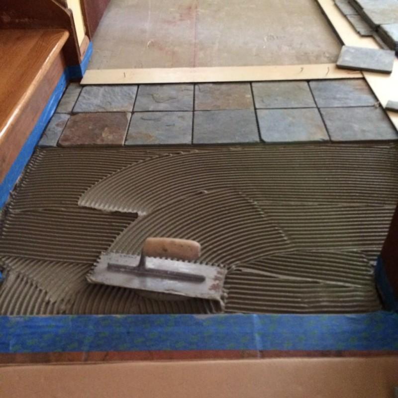 First tiles set.