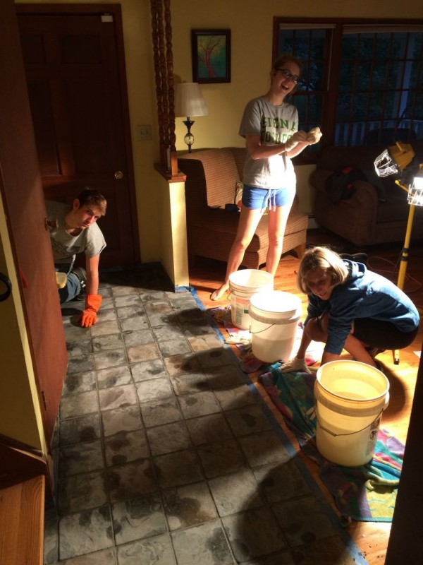 Tile cleaning 101. Clean each individual tile individually!