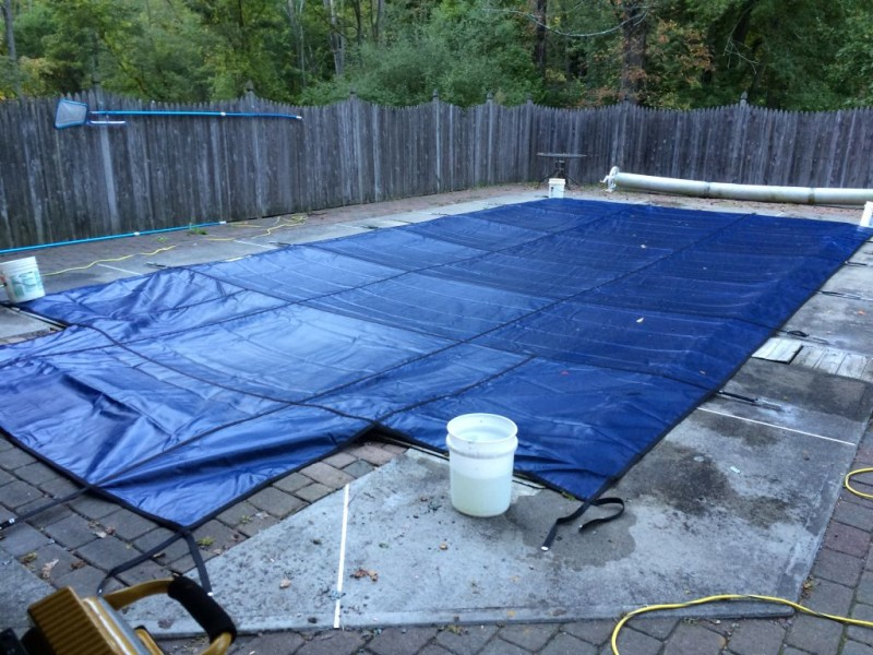 Pool cover.