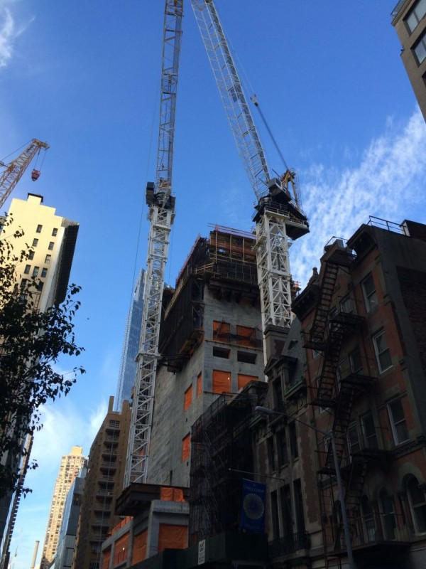 Crane installation 58th street