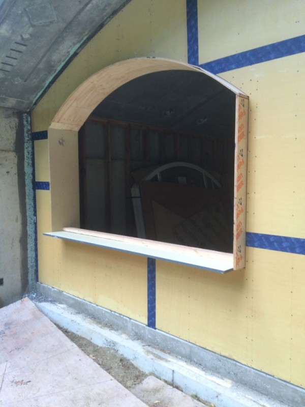 window framing nearing completion.