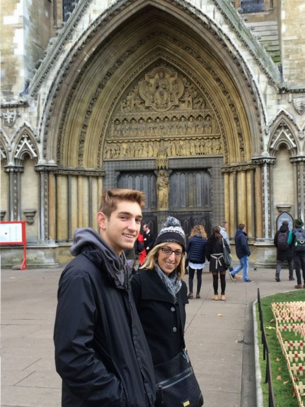 Terence and the Editor outside of Westminster Abbey.