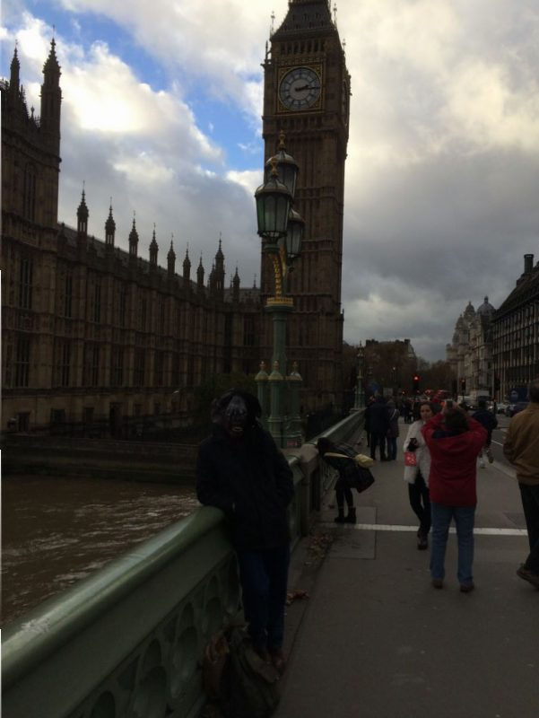 Bumped into Bob while crossing the Thames. That clock isn't so big.